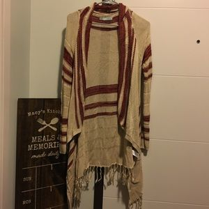 Maurice's long sleeve sweater with tassels